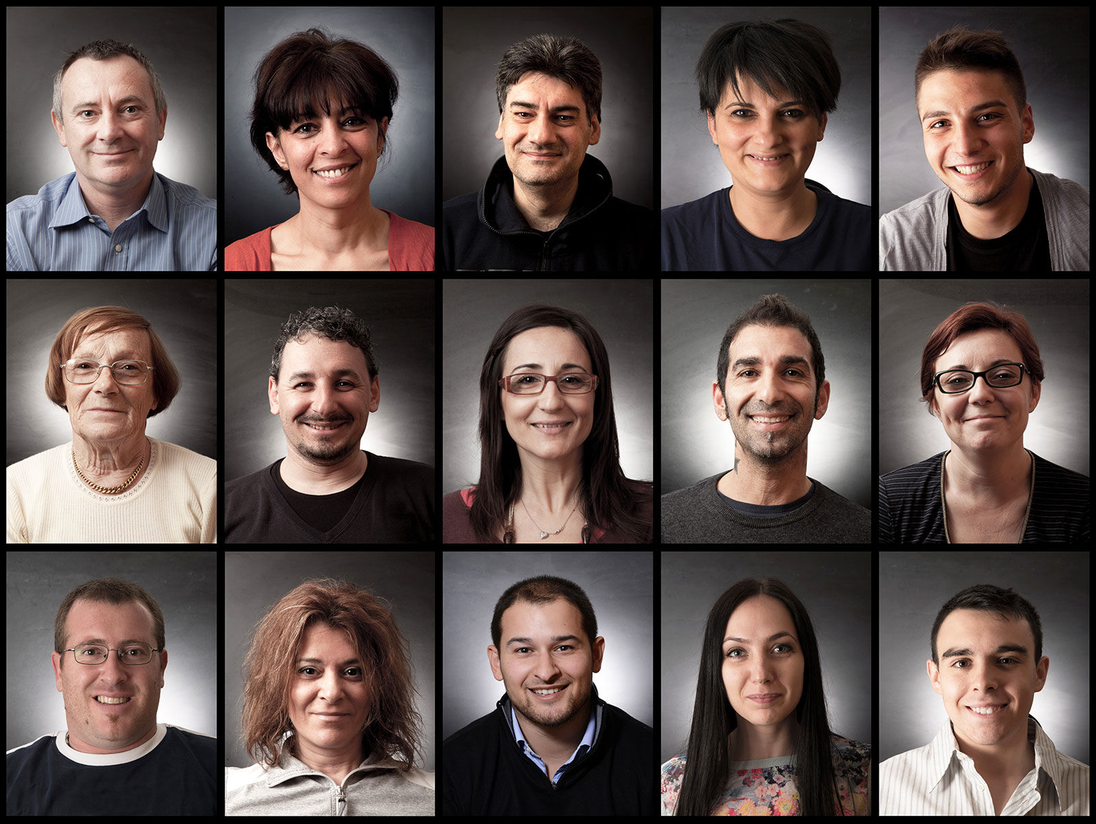 Collage of headshots of diverse adult care providers